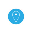 map pointer icon gps location symbol flat design vector image vector image
