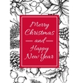 merry christmas and happy new year hand vector image vector image