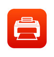 modern laser printer icon digital red vector image vector image