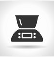 monochromatic kitchen scales icon with hovering vector image vector image