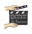 movie clapperboard sketch vector image