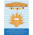octoberfest creative poster with information beer vector image vector image