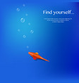 paper fish background vector image vector image