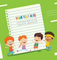 paper template design vector image vector image