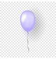 purple balloon 3d thread isolated white vector image