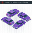 purple sedan car vector image vector image