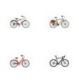 realistic cyclocross drive journey bike retro vector image vector image