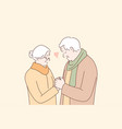 relationship love couple romance old age vector image vector image