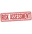risk assessment grunge rubber stamp vector image vector image
