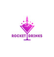 rocket drinks logo vector image vector image