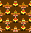 seamless colorful mexican pattern vector image