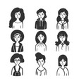 set different types women vector image
