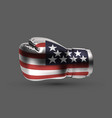 silver metallic color isolated boxing glove usa vector image