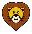 simple cartoon a cute lion vector image vector image