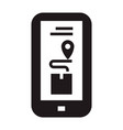smartphone track delivery box icon simple style vector image