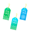 Spring sale tags set vector image vector image