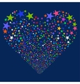 Star Fireworks Heart vector image