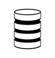 storage database disks vector image