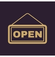 The open sign icon Input and entrance symbol vector image vector image