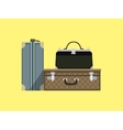 Travel bags cartoon colorful vector image vector image
