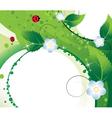 Wildflowers and ladybugs vector image