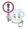 with sign natural milk jug in a cartoon vector image