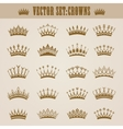 Victorian crowns vector image