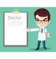 doctor smart presenting vector image