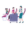 airplane lunch vector image