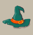 an of a cartoon halloween witch hat vector image vector image