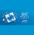 best dad ever happy fathers day festive event vector image