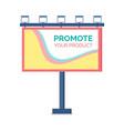 billboard design standing advertising vector image