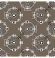 Brown attraction ferris wheel seamless pattern vector image vector image