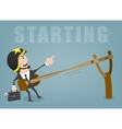 Business start vector image vector image