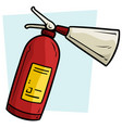 cartoon red fire extinguisher icon vector image
