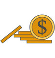 coin stack money flat icon isolated vector image