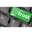 Computer keyboard key with trust button business vector image
