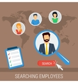 concept searching employees vector image