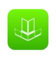 corner glass balcony icon green vector image vector image