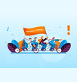 creative activity office workers leads to success vector image