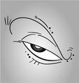 Creative eye vector image vector image