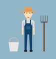 farmer man character constructor and objectfunny vector image