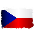 flag of czech republic grunge vector image