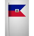 Flag of Haiti National Flag on Flagpole vector image vector image