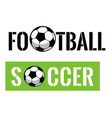 football event banner vector image vector image