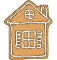 gingerbread house isolated on a white vector image vector image