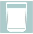 glass with fluid the white color icon vector image vector image