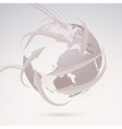 Global directional background template vector image vector image
