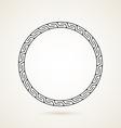 greek round frame ornament on white background vector image