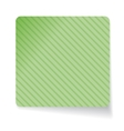 Green paper sticker vector image vector image